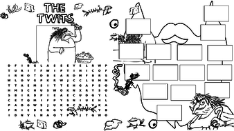 The Twits simplified story, activities, cooking and