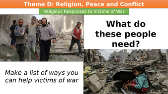 Religious Responses to Victims of War