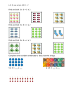 Arrays, Year 2 worksheets, differentiated 2 ways
