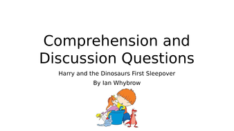 Harry and the Dinosaurs First Sleepover. Lesson plan and