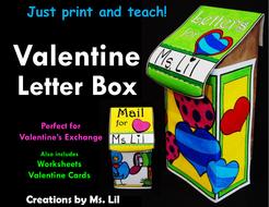 Valentines Day Letter Box  Valentines Craft  Valentine Card