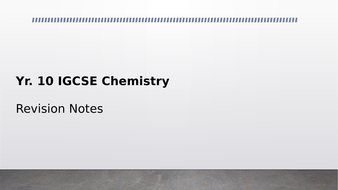 IGCSE Chemistry Revision Resource (CIE 2019 Syllabus) by beci_w