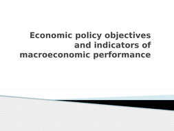 Economic growth as a macroeconomic indicator of performance