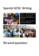 New Spanish GCSE. Writing exam practice: 90-word questions. Perfect for home learning.