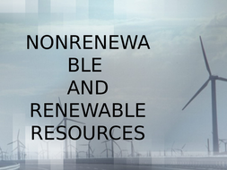 This resource explains renewable and non- renewable resources in Geography.