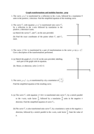 Graph transformations and modulus function homework/test (new A level)