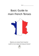 French mixed tenses guides to print out for pupils