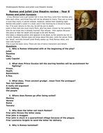 Romeo and Juliet question worksheet
