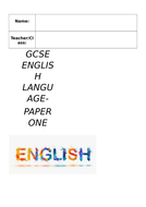 English Language Paper One Example Exam Paper