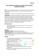 BIOLOGY AS/A LEVEL SALTERS NUFFIELD PRACTICAL WRITE-UP - Rate of reactions
