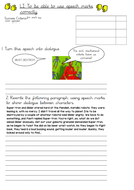 KS2 English Speech Marks Worksheet
