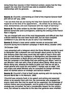 OCR A-Level History Unit Y113 - Lesson 14 - Churchill and Generals - Essay prep