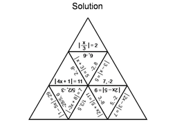 Absolute Value Equations: Math Tarsia Puzzle by