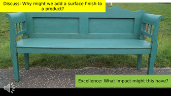 Surface Finishes and Standard Components - GCSE Product Design
