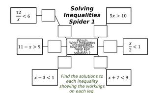 Solving Inequalities Spiders