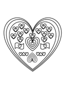Heart picture to colour for Valentine's Day