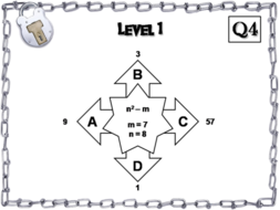 Evaluating Algebraic Expressions Game Escape Room Math Activity Teaching Resources
