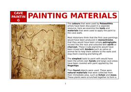 CAVE-PAINTING----Materials.docx