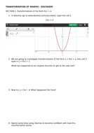 Transformation of Graphs  - Discovery using Desmos