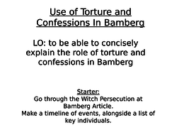 bamberg witch trials torture