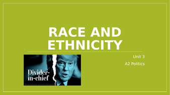 Race and ethnicity - President Trump - Divider-In-Chief?