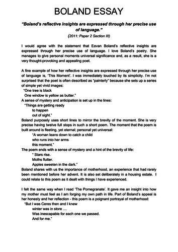 Boland poetry essay entry level graphic designer resume