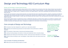 Full Curriculum Map for Ks3 DT (Product Design Food and Textiles)