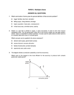 Economics examination questions and answer (paper 1 and paper 2)