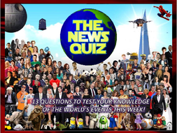 The News Quiz 29th January - 5th February 2018 Form Tutor Time Topical Events Settler Starter