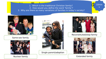 NEW OCR A LEVEL lesson on different types of families
