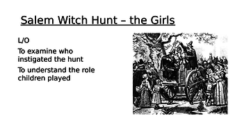 Salem - Tituba and the Girls