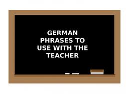 GERMAN CLASSROOM LANGUAGE