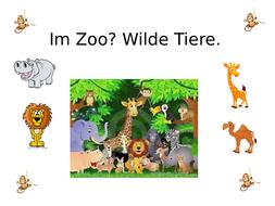 Im Zoo? Wilde Tiere.