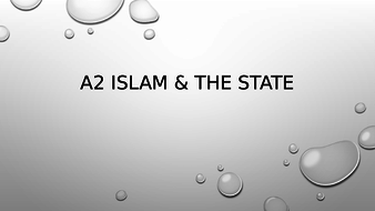OCR A2 ISLAM - Islam & the state  you tube links