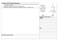 Structuring Feedback Giant Covalent Structures