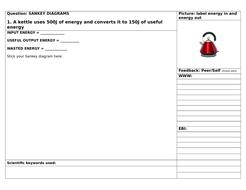 Structuring Feedback on Sankey Diagrams
