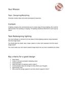 Task-Cover design lesson