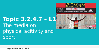 NEW A LEVEL PE AQA (Year 2) - Commercialisation in physical activity and sport