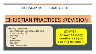 AQA : Christian Practises Revision (Pt1)