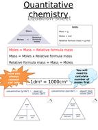 AQA 9-1 - C3 - Quantitative chemistry -equations sheet - TRILOGY