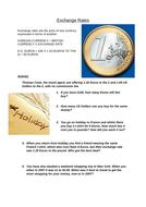 Exchange Rates Worksheet activities x 2: A Level Business; A Level Economics; GCSE Business