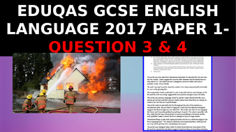 EDUQAS GCSE English Language Paper 1 June 2017 - how to get top marks on Questions 3 & 4