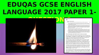 EDUQAS GCSE English Language Paper 1 June 2017 - how to get top marks on Question 2 (IMPRESSIONS)