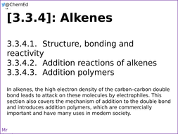 AQA A-Level Chemistry [3 3 4] Alkenes [New Specification (2016-)]