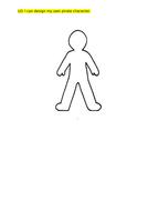 Pirate Character design worksheet