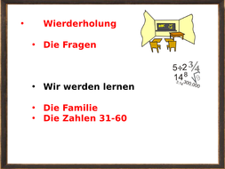 Revision of family members and numbers 31-60
