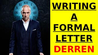 Derren Brown - writing a formal letter