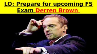 Derren Brown EXAM - Functional Skills English exam revision