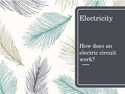 Electricity - selecting information and developing an explanation.