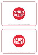 Sport Relief 2018: Bucket labels